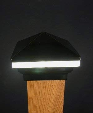 Iris Anello 12V Deck Light, 4 Post, Black