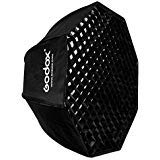 Godox SB-UE 32''/80cm Umbrella Octagon Softbox Reflector with Honeycomb Grid for Speedlight Flash(Bowens Mount)