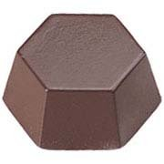 41 Chocolate Mold (Polycarbonate Chocolate Mold Hexagon 37x41mm x 18mm High, 20 Cavities)