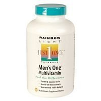 Rainbow Light Just Once Mens One Energy Multivitamin Tablet - 150 Per Pack -- 2 Packs Per Case.