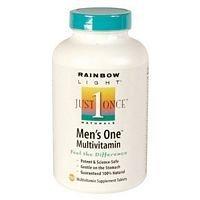 Rainbow Light Just Once Mens One Energy Multivitamin Tablet - 150 per pack -- 2 packs per (Rainbow Light Green)