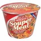 Nissin Souper Meal Beef Minestrone Ramen Noodle Soup, 4.3 OZ (Pack of 12)