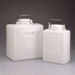 Nalgene 2211-0020 HDPE Rectangular Carboys with Polypropylene Closure, 9L Capacity (Case of 6) - Polypropylene Carboy