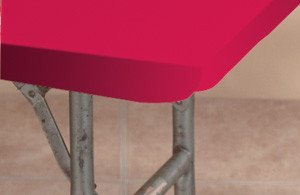 Kwik-Cover 60PK-R 60'' Round  Kwik-Cover - Red Fitted Table Cover (1 full case of 50) by Kwik-Covers
