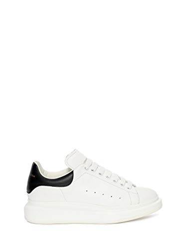 ~Alexander McQueen Women's&Men's White\Black Oversized Leather Fashion Sneakers Casual Sports Comfortable Walking Shoes (43 Europe)