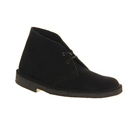 Clarks Originals Desert Boot Veloursleder, Schwarz, 42 EU/8 UK