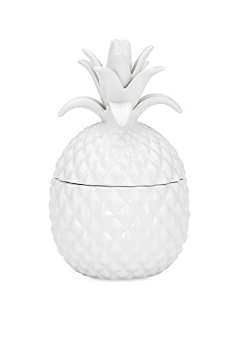(IMAX 53116 Bala Lidded Pineapple Shaped Ceramic Container – Food Safe Fun Lidded Canister, Handcrafted Food Jar. Kitchenware)