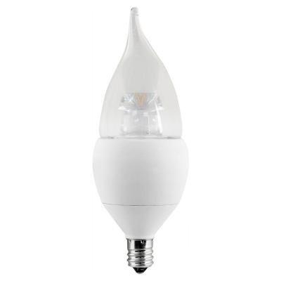 EcoSmart 60W Equivalent Soft White (2700K) B10 Candelabra Base Dimmable LED Light Bulb