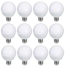 Lighting Science Decorative Frosted Globe Vanity Light Bulbs Round G25 E26 Base