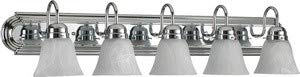 Quorum International 5094-5-114 Vanity Lights with Alabaster Swirl Glass Shades, Chrome