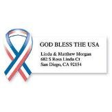 God Bless the USA Self-Adhesive, Flat-Sh - Patriotic Address Labels Shopping Results
