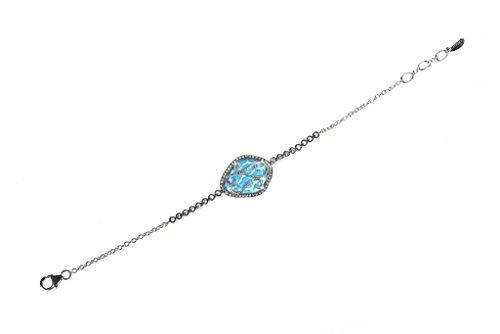 Snakeskin Diamond Bracelet - Ice Blue