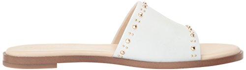 Cole Haan Donna Anica Stud Slide Sandalo Piatto Bianco Ottico