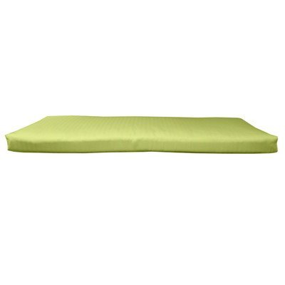 (BHG PU6018B1054 Sunbrella Designer 5' Bench Cushion with Fabric Ties, Spectrum Kiwi)