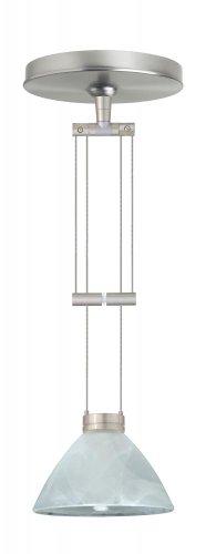(Besa Lighting 1XA-174352-SN 1X50W Gy6.35 Domi Pendant with Marble Glass, Satin Nickel Finish)