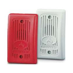 Gentex GX93-R Fire Evacuation, 12VDC/24VDC Remote Mini-Horn for Supervised Systems - Red Faceplate -