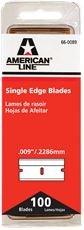 American Line 66-0089-DISP LINE SINGLE EDGE RAZOR BLADES, 100 BLADES PER PACK (25 PACKS) ()