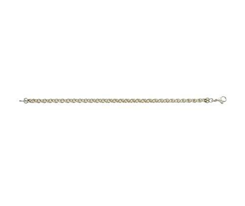 Or 9ct Jaune et Blanc Spiga 19,1cm/Bracelet 19cm