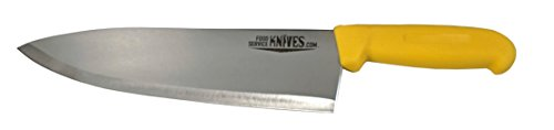 "Food Service Knives 10"" Professional Restaurant Chef Knife - Yellow - Color Coded for Safety - Choose Black, Blue, Red, Green, or Yellow - Cook French Stainless Steel New Sharp (Yellow) ()"