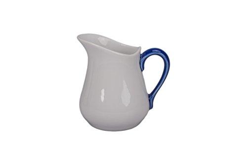 BIA Cordon Bleu 8-Ounce Porcelain Pitcher, Set of 2, White/Blue