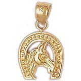 CleverEve 14K Gold Pendant Horseshoes 3 Grams