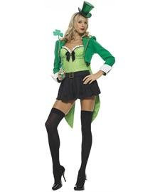 Clover Leprechaun Adult Costume - Small  sc 1 st  St. Patricku0027s Day Supplies : leprechaun costume for women  - Germanpascual.Com