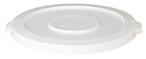 Continental 4445WH 44-Gallon Huskee LLDPE Waste Lid, Round, White