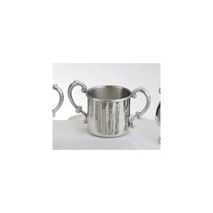 Empire Pewter Plain Double Handle Baby Cup by Empire Silver