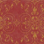 Fleur Scroll Wall & Floor stencil - Complete Kit Stencil with Paints & Roller - Plastic