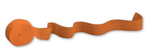 Creative Converting 076560 500 ft Solid Crepe Streamer Sunkissed Orange 12 Counts by Creative Converting (Image #1)
