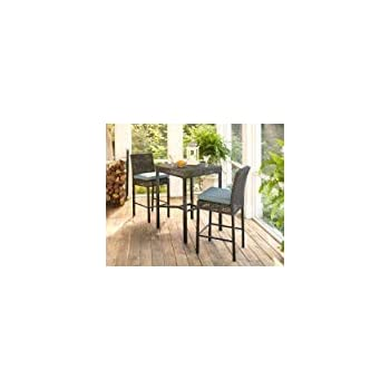 Amazon Com Hampton Bay Fenton 3 Piece Outdoor Patio High Bar