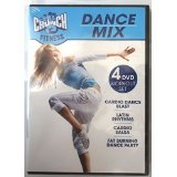 Latin Dances Dvd - Crunch Fitness Dance Mix 4 DVD Workout set Includes Cardio Blast / Latin Rhythms / Cardio Salsa / Fat Burning Dance Party