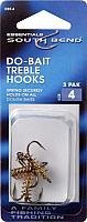 Bait Treble Hook - SouthBend Dough Bait Extra-Sharp DBT-4 Treble Hook Pack of 3/Size 4