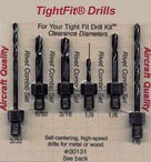 Drill Bits Short Length Threaded Shank, Combo Series Drill Bit Set 1 Tight Fit Tools 00131
