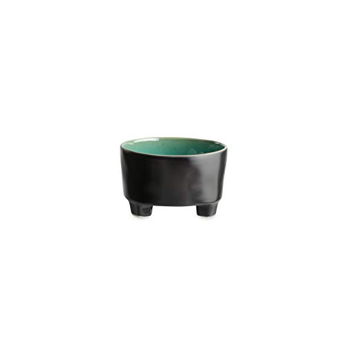 - COSTA NOVA Riviera Collection Stoneware Ceramic Footed Cereal Bowl 5.5