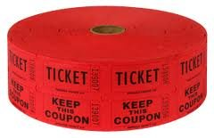 amazon com two 2 rolls of two part red double roll raffle