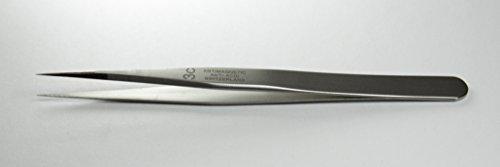 Regine 3C-SA - Very Sharp, Short Points, Straight Tip - Tweezer, - Antimagnetic, Anti-Acid Steel - Swiss Made - High Precision Tweezers, General Tweezers