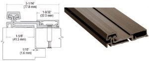 CRL D Bronze 100 Series St+ard Duty Full Surface Continuous Hinge - 10083DU
