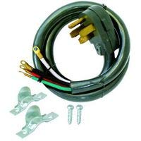 EZ-FLOEZ-FLO 61247-Mains Power Cord 1.83 m 250 VAC Black NEMA 15-30P to 4x Ring Tongue Terminal 50 A