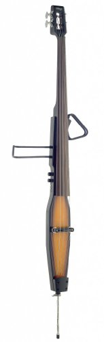 (Stagg EDB-3/4RDL VBR Deluxe 3/4 Size Electric Double Bass with Gig Bag Included - Violinburst)