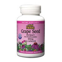 Grape Seed Extract, 100 mg, 60 Caps by Natural Factors (Pack of 4)