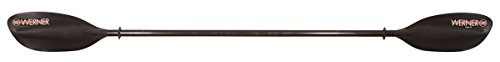 Werner Tybee 2-pc Carbon-Reinforced Kayak Paddle-SS-230-Blk -
