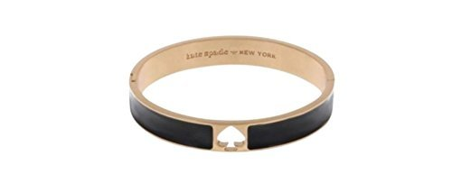 Kate Spade Hole Punch Spade Bangle Hinged Bracelet, Black