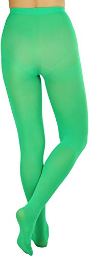 ToBeInStyle Women's Full Footed Panty Hose Leggings Tights Hosiery - Queen Size - Green - http://coolthings.us
