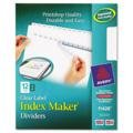 Avery - Index Maker Clear Label Punched Dividers, 12-Tab, Letter, White - Pack of 15