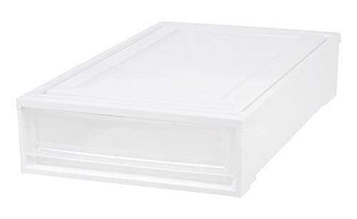 (IRIS Under Bed Box Chest Drawer, White)