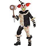 Scary Clowns Costumes For Kids (AMSCAN Carnival Nightmare Clown Halloween Costume for Boys, Medium, with Included)