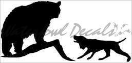 Bear Dog Hunting Decal – 1406 (Medium, Black) ()