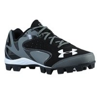 Under Armour Mens Leadoff Low RM Molded Baseball Cleat Black/Charcoal Size 10