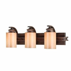 Golden Lighting 1051-BA3 SBZ Hidalgo 3 Light Vanity, Sovereign Bronze Finish (Rustic Lighting Contemporary)